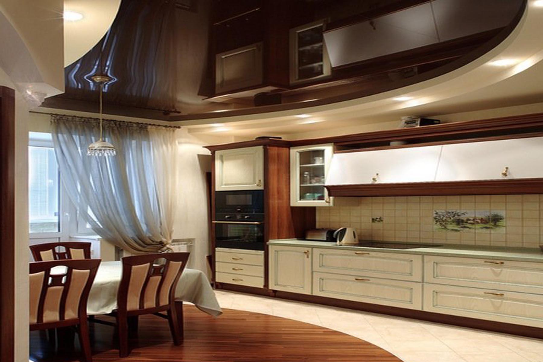 Потолки дизайн на кухне